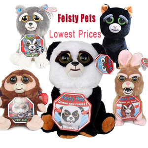 Christmas Gift Feisty Pets Change Face Stuffed Animal Doll Plush Toys With Funny Expression  For Kids Hot Sale