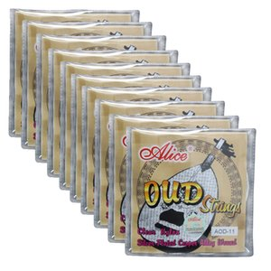 Wholesale 10Sets Alice UD OUD Strings Clear Nylon Silver-Plated Copper Wound 11 Strings