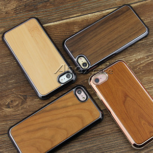 Wholesale Prermium Quality Real Wood Phone Case For iPhone X iPhone Samsung S9 Plus Nature Carved Wooden Bamboo Wood Slim Design
