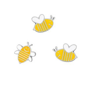 Cute Cartoon Cutes Yellow Bee Metal Brooch 3 Styles Jacket Jeans Cowboy Accessories Female Jewelry Pin Wholesale