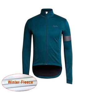 Wholesale RAPHA team Cycling Winter Thermal Fleece jersey Top Sale Men Winter Windproof Bicycle Clothing Warm c1922