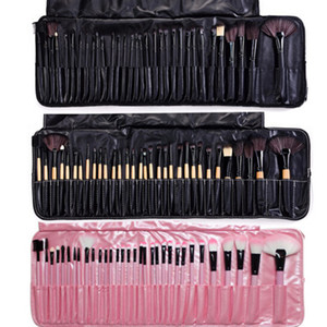taschen-werkzeug großhandel-Professionelle Make up Pinsel Set Portable Full Cosmetic Make up Pinsel Tool Foundation Eyeshadow Lip Pinsel mit Tasche