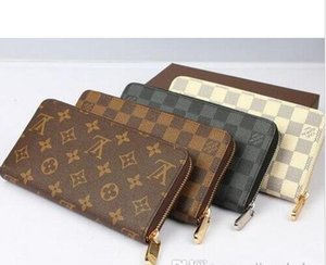 Hot zippy wallet High quality PU Leather Fashion designer clutch famous brand clutch water ripple wallet with box