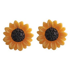 Wholesale New Fashion Sunflower Big Acrylic Earrings Boho Summer Beach Holiday Flower Stud Earrings For Women Girls Charm Jewelry