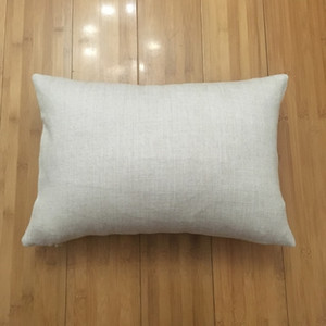 12x18 blank linen pillow case for dye sublimation 100% polyester burlap look cushion cover plain linen pillow cover ( 20 pcs lot )