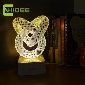 Wholesale USB Novelty Gift Dimmable D Table Lamp Led Night Light Knot Lampara as Home Decor BedRoom Abajur Touch Switch Desk Light