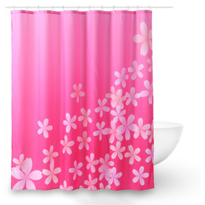 Wholesale curtains bathrooms resale online - Hot D Print Shower Curtains Pink Flower Polyester Waterproof Bathroom Shower Curtain Home Decor Bathing Curtain