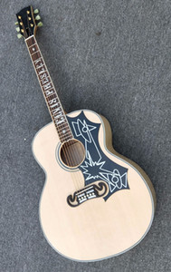Free shipping!Wholesale New Custom SJ200 43# Acoustic electric guitar made of solid maple top quality 171210