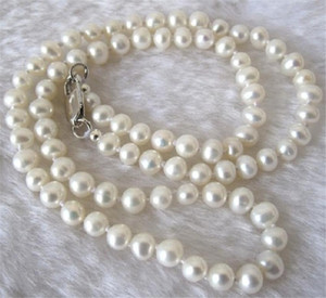 "Long 30"" 8-9mm Real Natural White Akoya Cultured Pearl Jewelry Necklace"