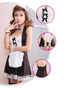 Wholesale free delivery! Hot sales new role playing the uniform sexy clothing women, seduce the lovely French adult Sexy Maid Dress!