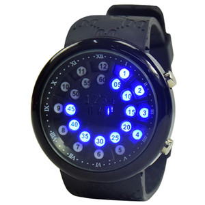 Wholesale New fashion LED watch popular cool blue watch large screen wear resistant glass mirror sci fi visual design waterproof