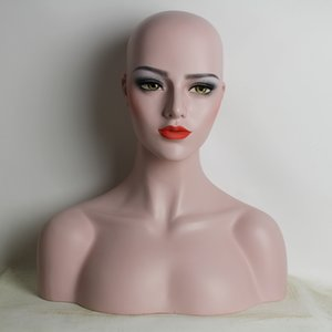 Wholesale Female Fiberglass Mannequin Head Bust For Lace Wigs Hat Necklace Earrings Display EMS Shipping Best Package