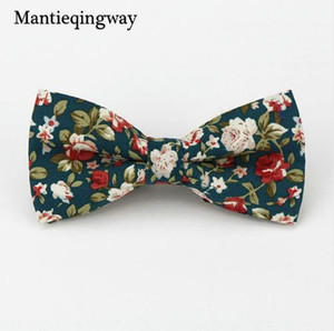 Wholesale Mantieqingway Popular Bow Ties Cotton Floral Neckwear Bowtie for Men Suit Bow Tie for Mens Wedding Party Fashion Accessories
