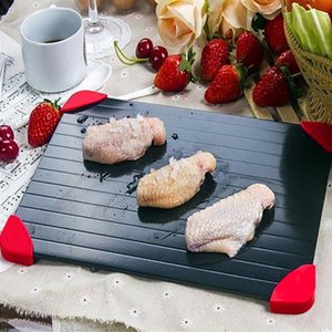Fast Defrosting Tray Food Meat Fruit Fast Defrosting Plate Board Quickly Thaw Frozen Food Kitchen Tools With Silicone Legs Edges pad