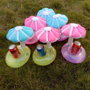 Wholesale Summer Inflatable Mushroom Cup Holder Drink Floating Party Beverage Boats Phone Stand Holder Pool Toys for Weeding