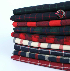 Wholesale plaid flannel fabric resale online - cm x50cm High quality cotton twill flannel cloth sanding soft fabric and yarn dyed Plaid Shirt cloth g m