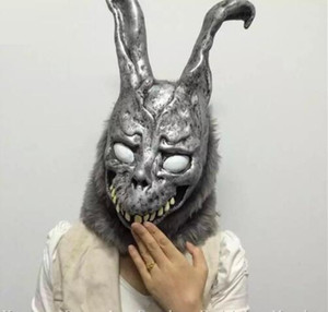 ingrosso donnie darko maschera-Halloween Party Cosplay Donnie Darko Maschera di coniglio Scary Animal Full Head Horror Maschera Zombie Devil Skull Mask Toys
