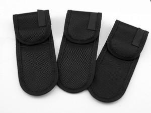 Hot Sale EDC Black Nylon Pouch Sheath Bag For Folding Knife Tool Back Belt Clip Case FF-K033