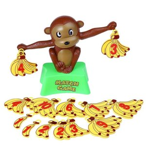 Wholesale Funny Cute Monkey Bananas Numbers Balance Educational Safety Plastic Toy Math Match Game Preschool age Children Christmas Gift