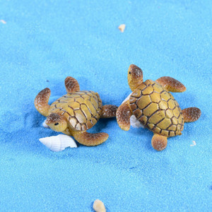 Wholesale 1PC Sea Turtle Model Miniatures Fairy Garden Miniatures Decoration DIY Dolls Bonsai Figurines Gifts Home Decoration Accessories