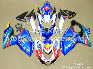 ACE Motorcycle Fairings For SUZUKI GSX-R1000 K9 2009 2010 2011 2012 2013 2014 2015 Compression or Injection Bodywork Blue White No.421