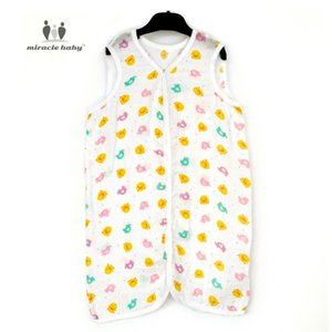 Wholesale Miracle Baby Bamboo Cotton Muslin Soft Vest Sleeping Bag Sleepsacks Swaddle Wrap For Newborns Unisex Yellow Duck Cushion
