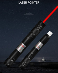 New Style BGD6 650nm Red Laser Pointer Pen Built-in Rechargeable Battery USB Charging Lazer Pointer For Office and Teaching