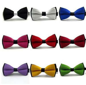 Wholesale new fashion male bow ties for men neckwear butterfly bowtie cravat bowknot for wedding matt solid mosaic color