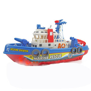 Wholesale Children s Electric Fire Boat Music Light Spray Water Driving Model Toy Force Control Plastic For Children And Children