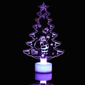 Wholesale Christmas Tree New Multicolor LED Bright Acrylic Christmas Tree Mood Light Night Z1026