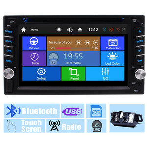 Wholesale Backup Camera Multi Touch Screen Audio Autoradio Monitor Din In Dash Video CD VCD Car DVD Player USB SD Radio Receiver Bluetooth Car Stereo