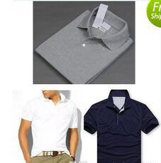 Wholesale New Brand small Horse embroidery Polo Shirt Men Short Sleeve Casual Shirts Man s Solid Polo Shirt Plus XL XL Camisa Polo