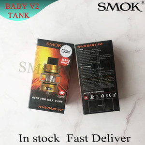 SMOK TFV8 Baby V2 Tank 5ml Max Mesh Atomizer Patented Locking Mechanism With Baby V2 A1 A2 Coils Antibacterial Medical Cotton 100% Original