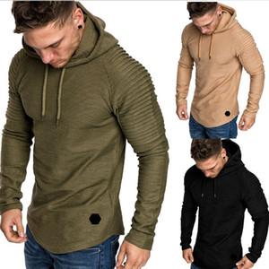 New Fashion Mens Hoodies Men Solid Color Hooded Sling Sweatshirt Mens Hoodie Hip Hop Hoodie 5XL