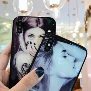 Wholesale Cool Girl Design Magnetic Adsorption Tempered Glass Back Panel Phone Cover Phone Case For iPhone6 Plus X XR XS XS Max