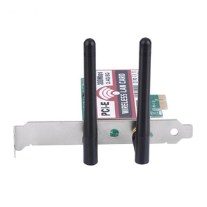 300Mbps PCI-e Dual Band 2.4G 5G AP Wireless WiFi WLAN Adapter For MAC Laptop with Antenna