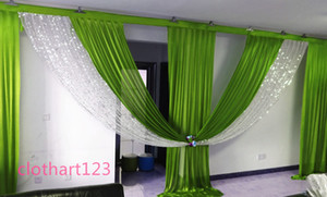 6m wide silver sequin swag designs wedding stylist swags for backdrop Party Curtain Celebration Stage backdrop drapes