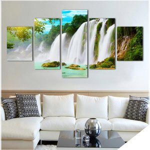 2017 Canvas Limited Modern Unframed Nature Waterfall Trees Hd Large Image Decor For Restaurant Giveaway Landscape Wall Art
