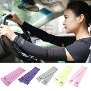 Wholesale Anti UV Protection Gloves Unisex Adult Stretch Sports Sun Block Elbow Length Driving Arm Sleeves Arm Cooling Sleeve Covers Golf