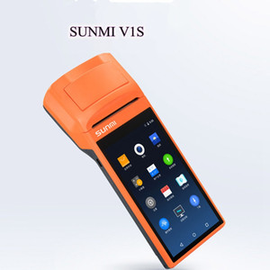 V1S Android5.1 OS Portable thermal printer Thermal wireless bluetooth wifi Android PDA 3G Food Distribution