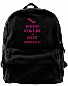 Wholesale Keep Calm and Buy Shoes Fashion Canvas Best Backpack Unique Camper Backpack For Men Women Teens College Travel Daypack