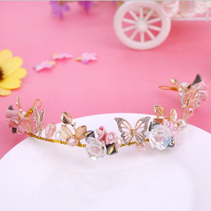 Wholesale Korean brides ceramics flowers butterflies hair flowers wedding accessories fresh and lovely bridesmaids headwear