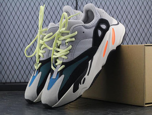 Wholesale 2018 Kanye West Boots Runner Best Quality Sports Running Shoes Sneakers Men Womens Comfort Grey Athletics Shoes Dad Shoe with Box