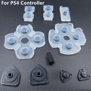 Free shipping 10pcs x 10sets Soft Controllr Conductive Silicon Rubber Pads for Playstation 4 PS4 Buttons Replacement Repair Parts