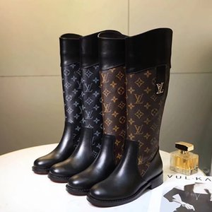 TOP Designer 2018 Women Luxury Brand Knee Boots Genuine Leather Thigh High Fashion Boot Lady Dress Boots Casual Shoes With box on Sale