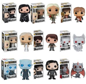 Wholesale Exclusive Funko Pop Game of Thrones Action Figures Cute Movie Character Role Decoration Rotatable Head Toys Valuable Gift With Retail Box
