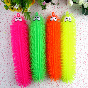 Wholesale 1PC Light Up Toys Luminous Caterpillars Vent Toys Kids Inflated Toy Gift Pattern Color Random toy for children