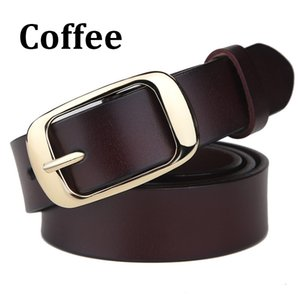 Wholesale New fashion needle buckle two layers cow skin genuine leather lady belt