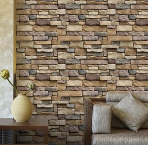 Wholesale 3D Paper Brick Stone Wall Sticker