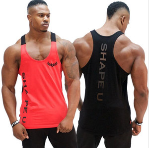 Wholesale 2018 new Men s vest summer loose sports quick drying vest fitness training clothing Men T Shirts bvbnfg